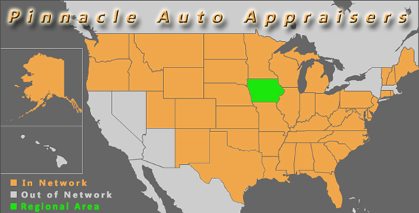 map des moines iowa car suv pinnacle auto appraiser appraisal dimished value inspection